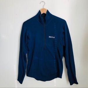 Marmot navy soft fleece 1/4 zip pullover